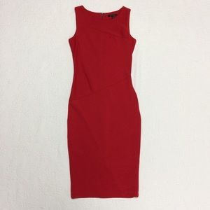 Eva Longoria Sleeveless Red Sheath Dress SZ S
